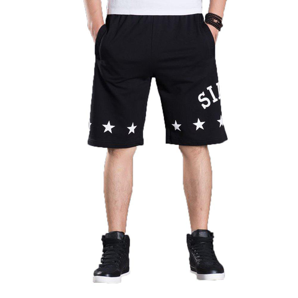 Summer Hot Selling Plus Size Men's Shorts - BLACK 5XL