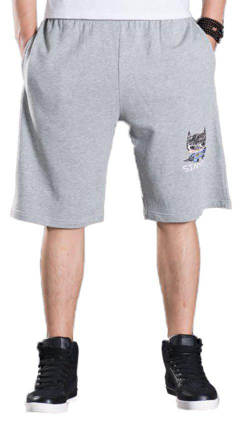 Summer Men's Fashion Pants Plus Size Shorts - GRAY 4XL
