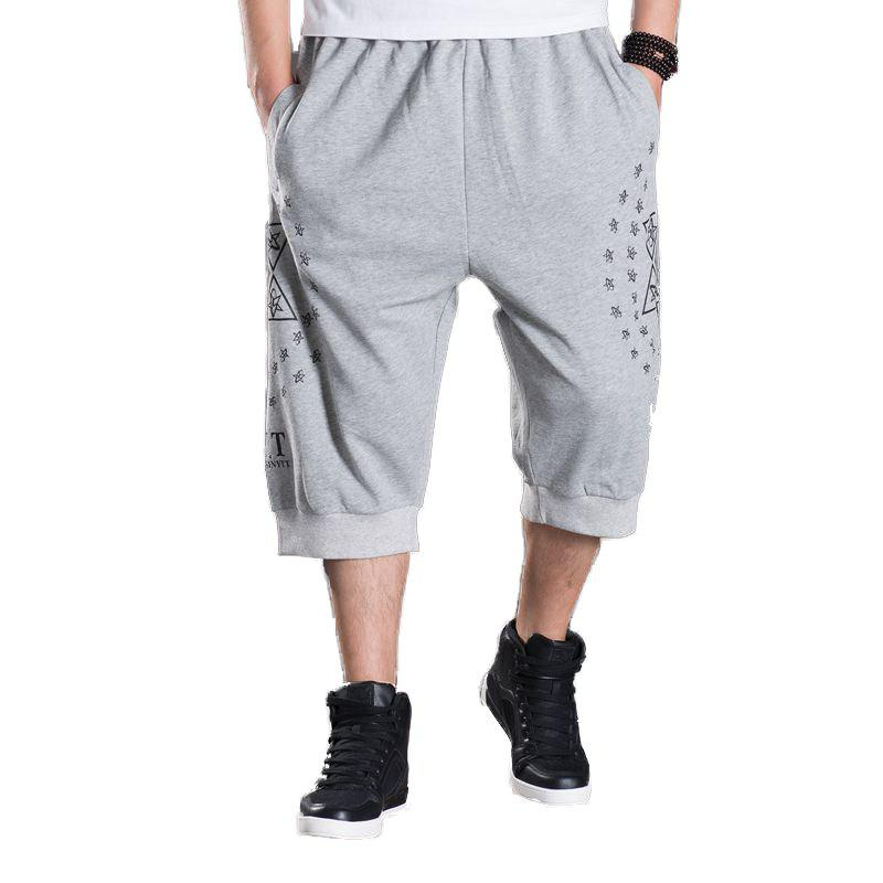 Men's New Summer Plus Size Hot Shorts - GRAY 4XL