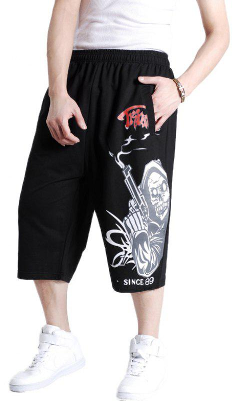 Young Men's New Summer Plus Size Hot Shorts - BLACK 4XL