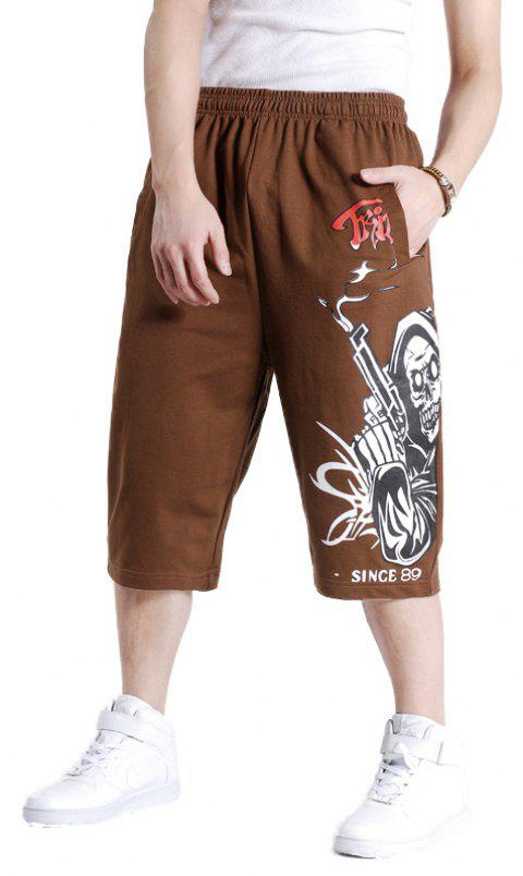 Young Men's New Summer Plus Size Hot Shorts - LIGHT BROWN 4XL
