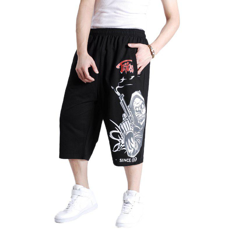 Young Men's New Summer Hot Shorts - BLACK 4XL