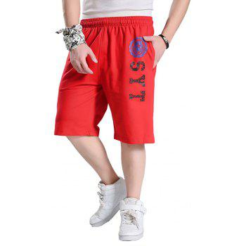 Male New Summer Hot Shorts - RED 4XL