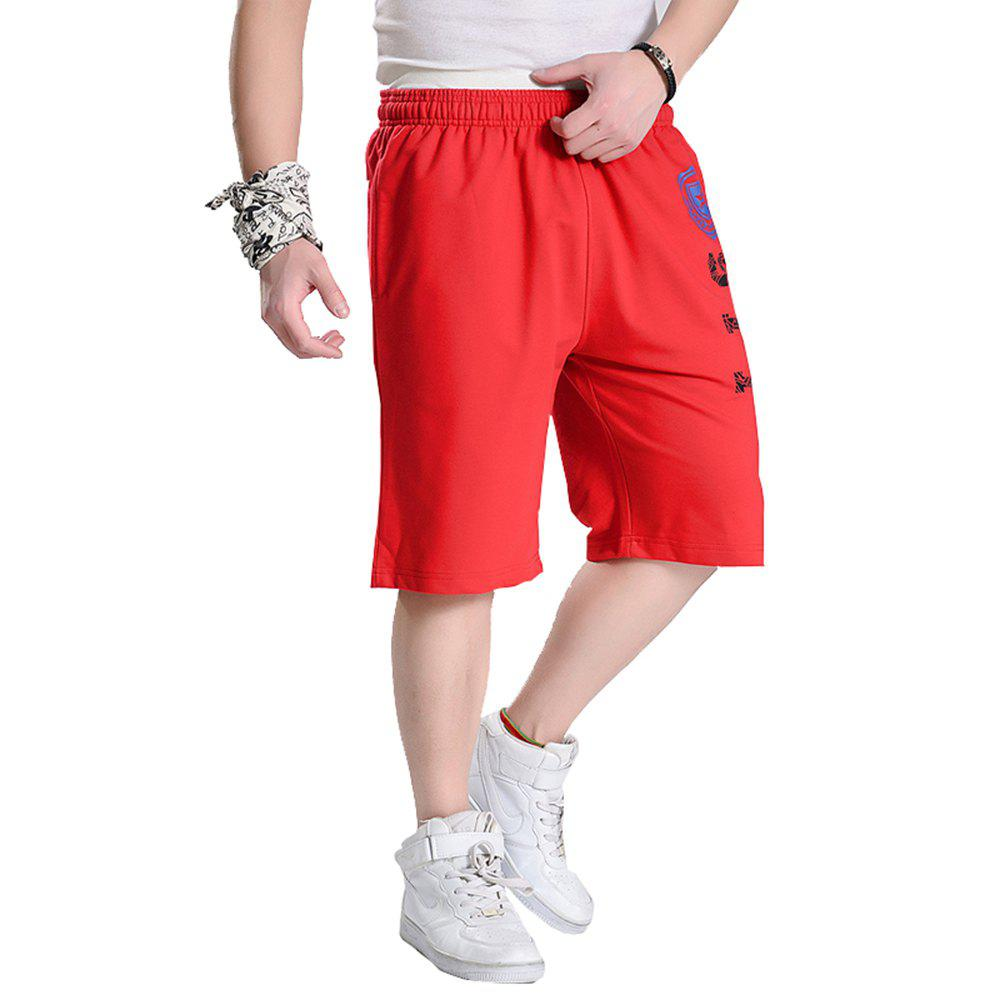 Male New Summer Hot Plus Size Shorts - RED 4XL