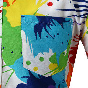 Personality Colorful Short-sleeved Shirt - WHITE XL