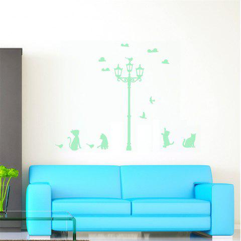Luminous Cartoon Switch Sticker Glow Street Lamp Dark Room Decoration - DRAGON GREEN