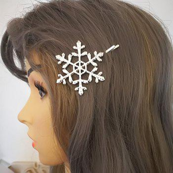 New Europe and The United States Simple Metal Hollow Snowflake Hairpin - SILVER