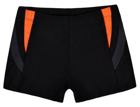 Men's Casual And Comfortable Boxer Swimming Trunks - BLACK XL
