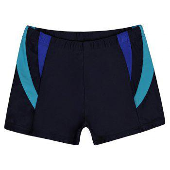 Men's Casual And Comfortable Boxer Swimming Trunks - DEEP BLUE XL
