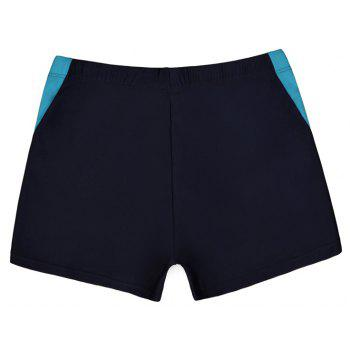 Men's Casual And Comfortable Boxer Swimming Trunks - DEEP BLUE L