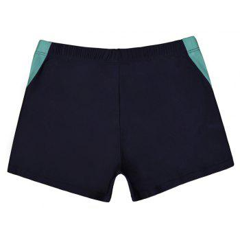 Men's Casual And Comfortable Boxer Swimming Trunks - NAVY BLUE L