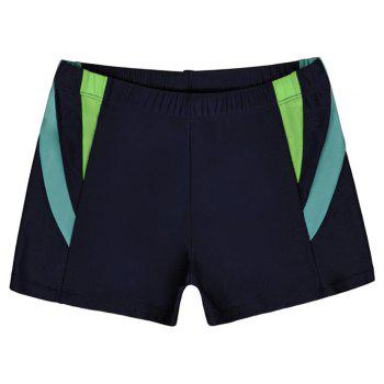 Men's Casual And Comfortable Boxer Swimming Trunks - NAVY BLUE 2XL