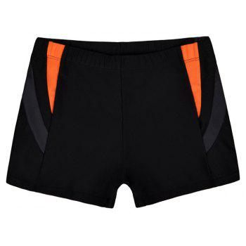 Men's Casual And Comfortable Boxer Swimming Trunks - BLACK 2XL