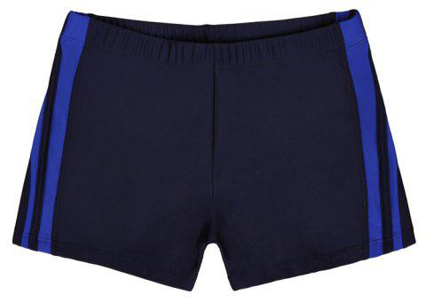 Waterproof Breathable Quick-Drying Swimming Trunks - NAVY BLUE XL