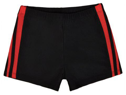 Waterproof Breathable Quick-Drying Swimming Trunks - BLACK 2XL
