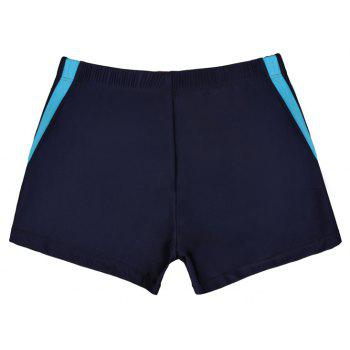 Waterproof Breathable Quick-Drying Swimming Trunks - DEEP BLUE 2XL