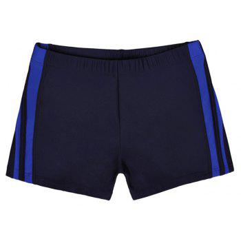 Waterproof Breathable Quick-Drying Swimming Trunks - NAVY BLUE L