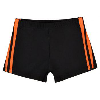 Waterproof Breathable Quick-Drying Swimming Trunks - NATURAL BLACK XL
