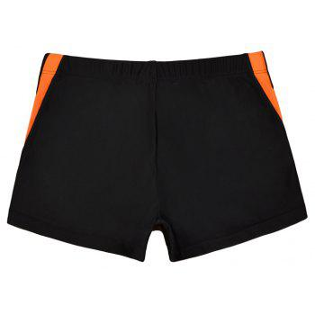Waterproof Breathable Quick-Drying Swimming Trunks - NATURAL BLACK 2XL