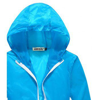 Men and Women Summer Thin Skin Clothes Dry Exercise Sun Protection Jacket - CORAL BLUE 3XL