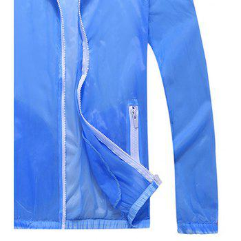 Men and Women Summer Thin Skin Clothes Dry Exercise Sun Protection Jacket - LIGHT BLUE S