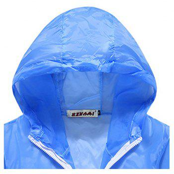 Men and Women Summer Thin Skin Clothes Dry Exercise Sun Protection Jacket - LIGHT BLUE L