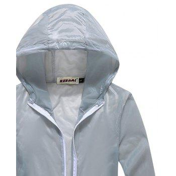 Men and Women Summer Thin Skin Clothes Dry Exercise Sun Protection Jacket - GRAY M