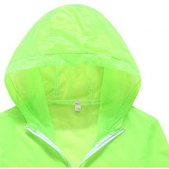 Men and Women Summer Thin Skin Clothes Dry Exercise Sun Protection Jacket - GREEN YELLOW XL