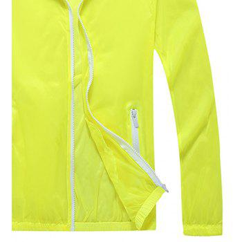 Men and Women Summer Thin Skin Clothes Dry Exercise Sun Protection Jacket - YELLOW 3XL
