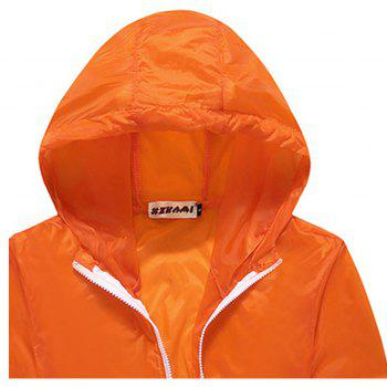 Men and Women Summer Thin Skin Clothes Dry Exercise Sun Protection Jacket - DARK ORANGE M