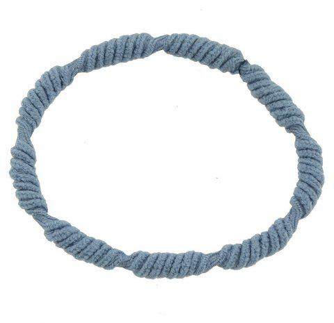 Cotton Elastic Colorful Hair Jewelry for Lady Girl - LIGHT SLATE GRAY