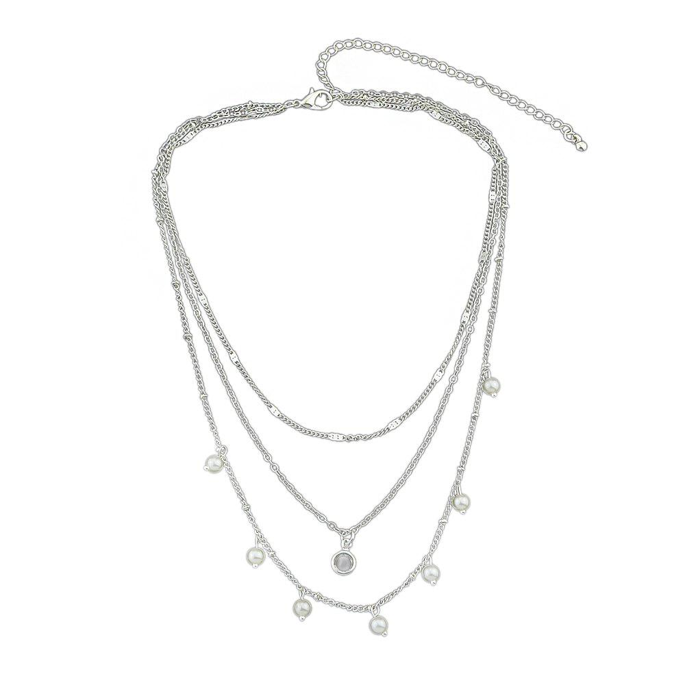 Silver Gold-color Multi Layer Chain Necklace все цены