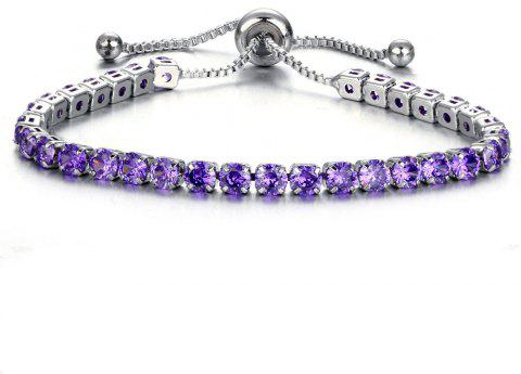 Fresh Fashionable Luxury Temperament Bracelet - PURPLE