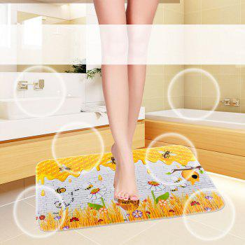 Bottom Washable Printed Floor Mat - multicolor A