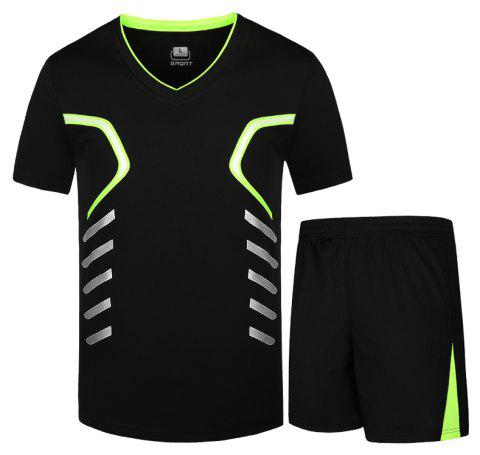 Men Activewear Set Plus Size Casual Comfy Breathable Set - NIGHT L