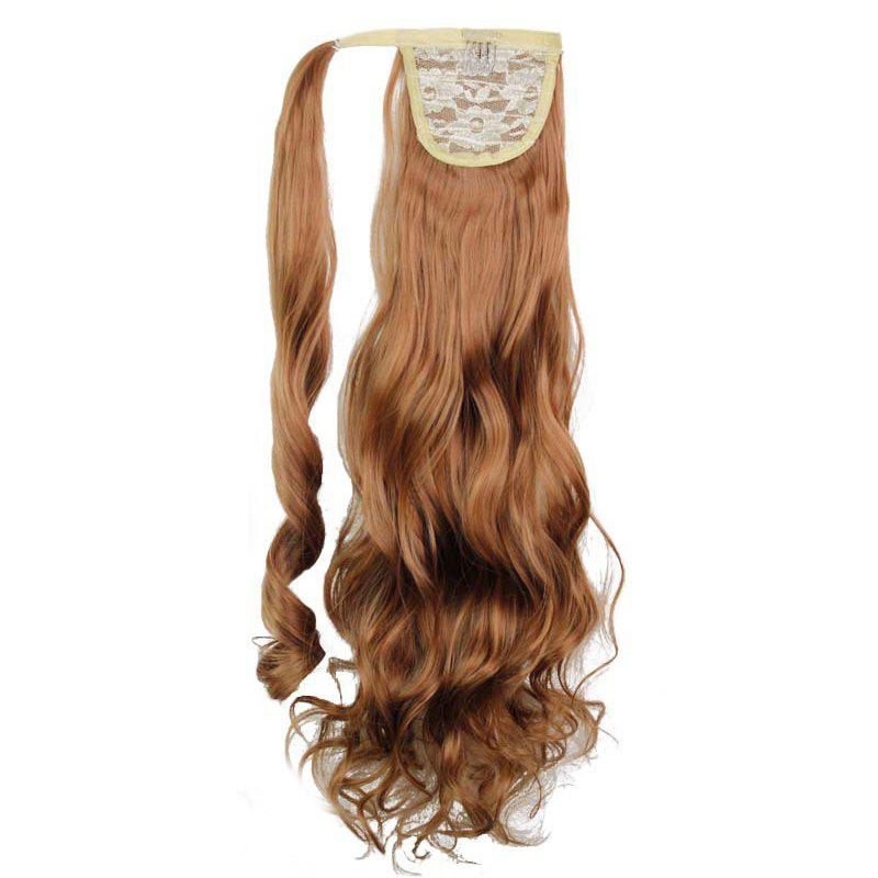 Synthetic Wrap Around Ponytail Hairpieces Long Wavy Hair Extension