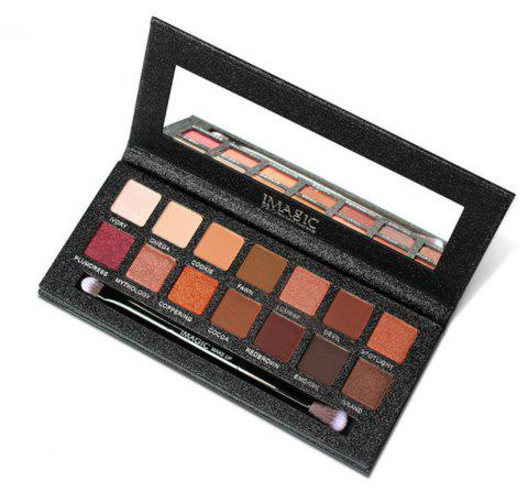 IMAGIC Matt Pearl 14 Color Eyeshadow Maquillage pour les yeux - multicolor