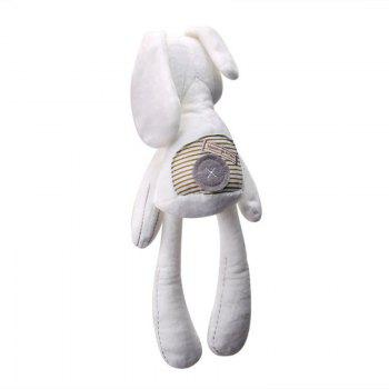 Cute Plush Bunny Baby Doll Pacifies The Sleeping Doll - WHITE