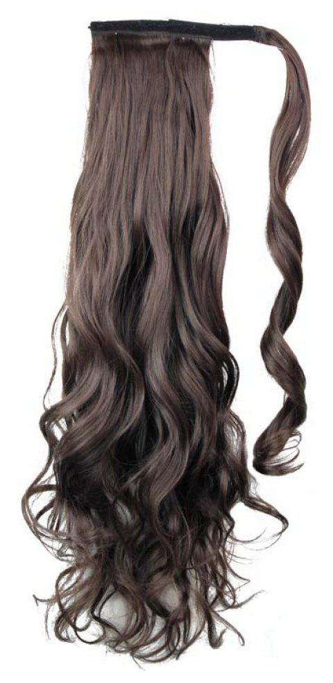 Long Wavy Synthetic Wrap Around Ponytail Hairpieces Hair Extension for Women - 002 24INCH
