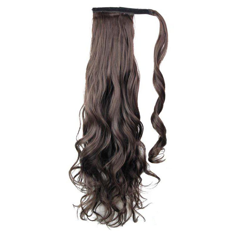 Long Wavy Synthetic Wrap Around Ponytail Hairpieces Hair Extension for Women -  24INCH
