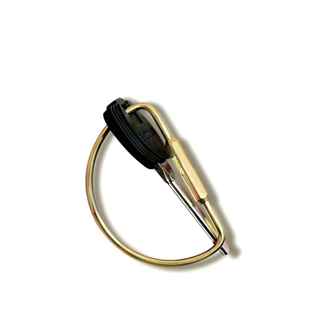 Personality Pure Brass Key Ring - GOLD