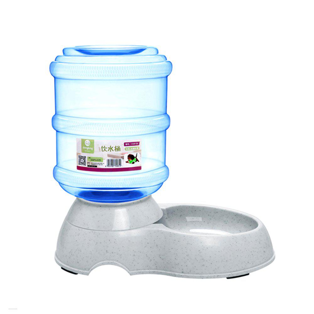 Pet Dog Cat Kettle Drinking Fountain Automatic Feeder - JEANS BLUE SIZE L
