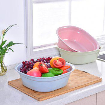 DIHE Small Size Simple Practical Square Plastic Washbasin - PINK