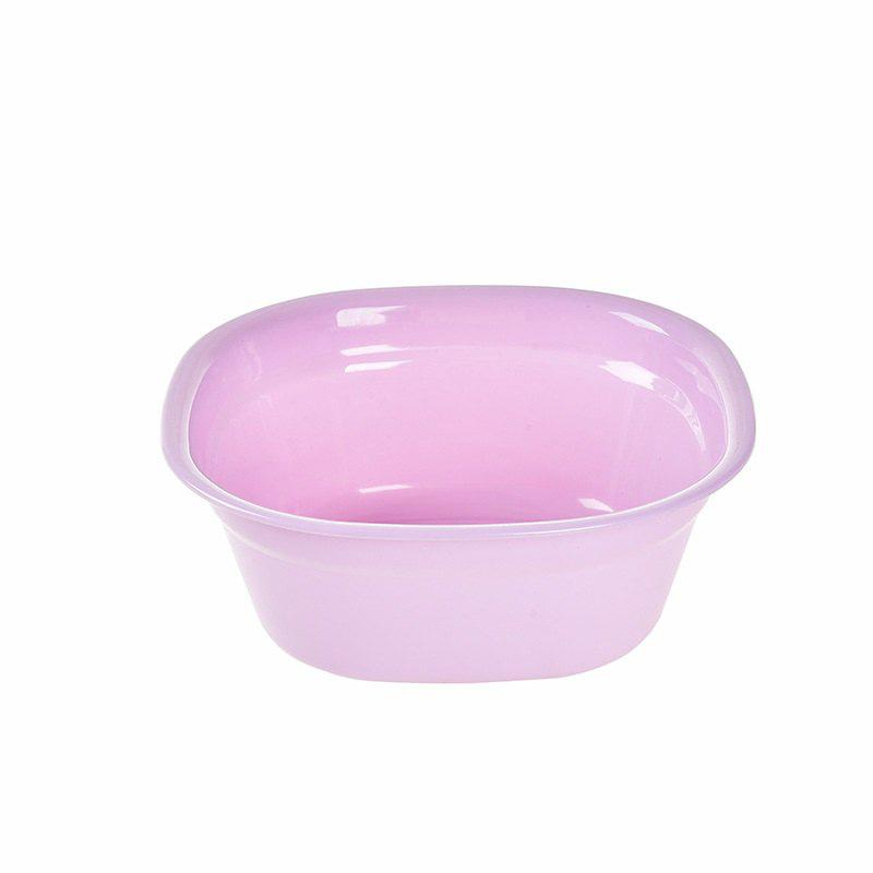 DIHE Small Size Simple Practical Square Plastic Washbasin - VIOLET