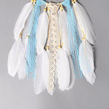 Creative Arts Fresh Girl Bedroom Dreamcatcher Feather Hanging Decorations - DAY SKY BLUE