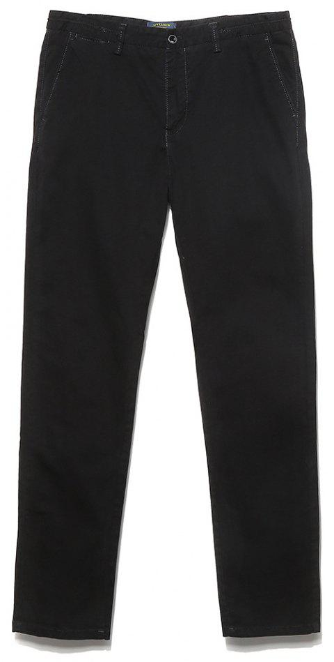 Men's Straight Tube Pure Color Tramp Fallow Pants - DARK GRAY 30