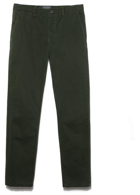 Men's Straight Tube Pure Color Tramp Fallow Pants - ARMY GREEN 33