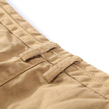 Men's Straight Tube Pure Color Tramp Fallow Pants - LIGHT KHAKI 33