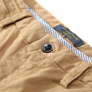 Men's Straight Tube Pure Color Tramp Fallow Pants - LIGHT KHAKI 29