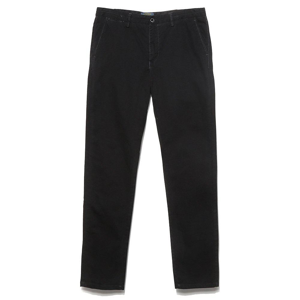 Men's Straight Tube Pure Color Tramp Fallow Pants - DARK GRAY 33